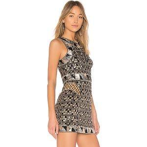 NEW X by NBD REVOLVE Sophia Sequin Metallic Dress